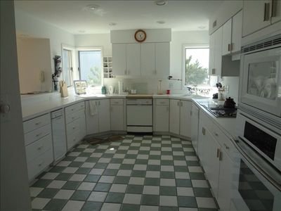 Large open kitchen located on first floor.