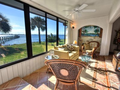 view of Intracostal River from Villa's sunroom
