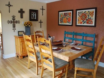 Beautiful New Mexico style dining area.