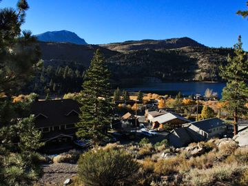 Resort and View of June Lake at The Heidelberg Inn