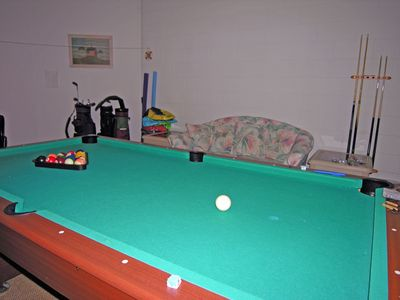 The Games Room in the garage