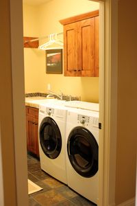 A peek into the laundry room