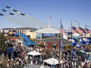 Pier 39 during Fleet Week