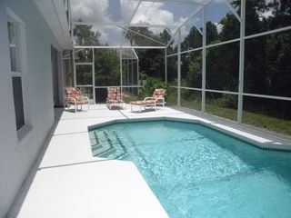 Esprit Estates villa photo - Private Pool Area with View of Conservation Lot of Mature Trees