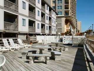 Ocean Drive Beach condo photo - North Myrtle Beach condo rentals Chateau By The Sea oceanfront pool deck