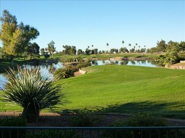 Mesa condo rental - Patio View of Golf Course
