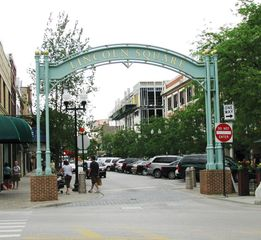 Chicago apartment photo - Gateway to Lincoln Square Pedestrian Area