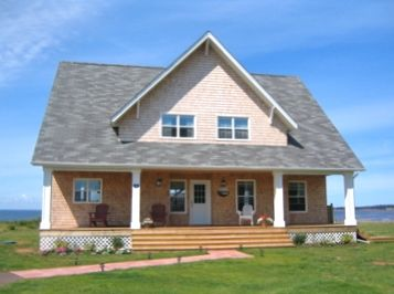 This lovely waterfront home was newly built in July, 2006