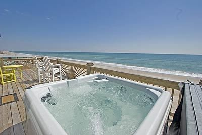 6 person hot tub invites you to the private upper level deck