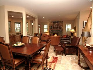 Cashiers estate photo - Lower Level Game Room & Dining Area