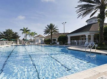 Windsor Palms condo rental - Sparkling pool and spa, steps from the condo!