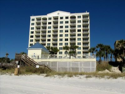 Leeward Key condos from the beach!  Beach front pool too!