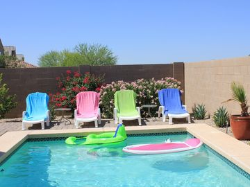Queen Creek house rental - Lounge by the pool