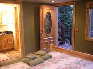Stateline house photo - Oak, redwood, pine, slate, granite & etched glass