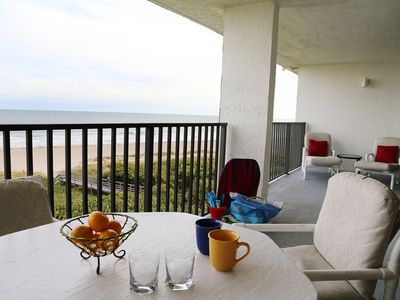 Huge Oceanfront Double Wide Balcony overlooking the beautiful beach