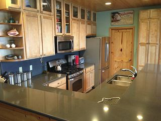 Pacific Beach house photo - Fully equiped kitchen with great view of Joe Creek and the ocean.