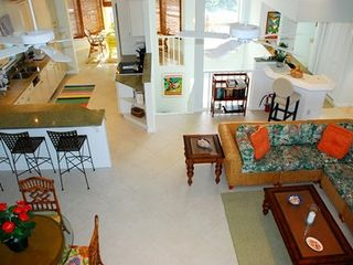 North Captiva Island house photo - Family Room looking into kitchen and dining room