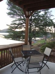 Hiawassee condo photo - Seating & Outdoor Dining Area of Back Porch