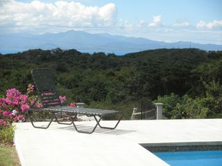 Vieques Island property rental photo - El Yunque as seen from the pool deck