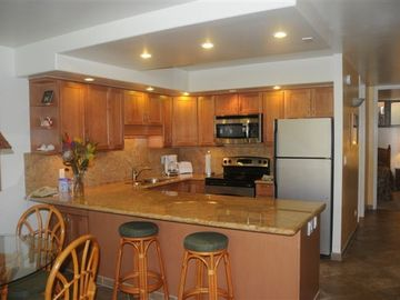 Another view of large gourmet kitchen