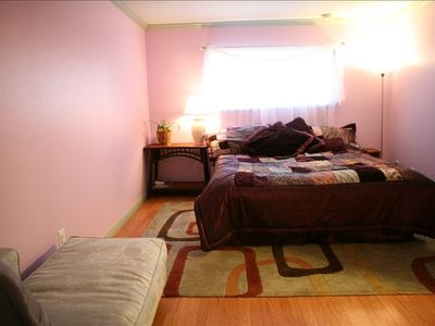 Lavender Master Bedroom with King Bed
