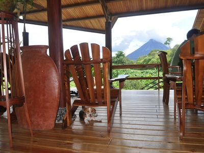 La Fortuna villa rental - View of the volcno from the dining/lounge area