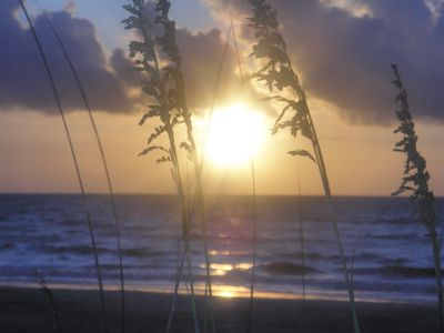 Beautiful Sunrise on Fernandina Beach, Amelia Island, Florida.
