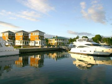 Sturgeon Bay cottage rental - Marina Cottages from the harbor