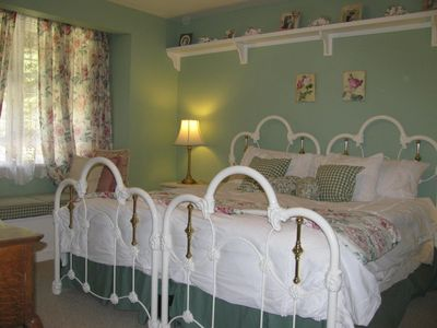 The charming 'Girls Room' with a new king mattress