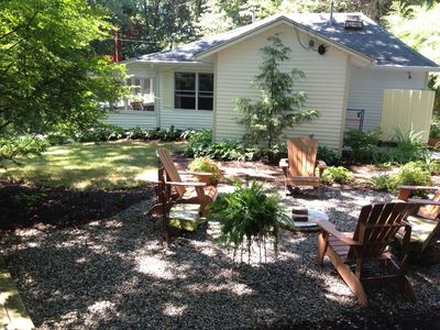 Saugatuck / Douglas cottage rental - Enjoy the fire pit day or night