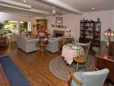 Arroyo Grande house rental - Spacious and Comfortable Sitting Room with Double French Doors to the Garden!