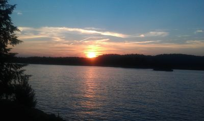 Sunset on the lake..Our favorite view from the deck