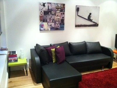studio and sofa (opens up)