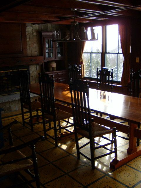Another view of antiqued Dining Room