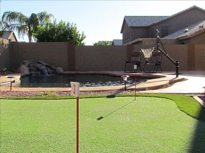Heated Salt Water Pool - 3 hole putting green