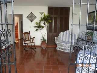 Puerto Plata villa photo - The open air main entrance foyer of Villa Carolisol