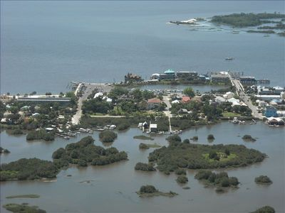 Aerial view downtown Cedar Key
