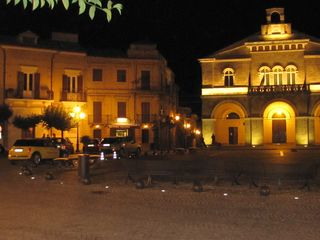Treglio house photo - Night time in the piazza...come join the locals for a chat
