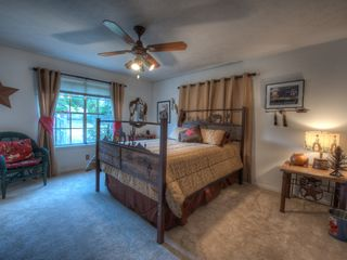 Dripping Springs house photo - Happy Trails bedroom with queen sized bed and twin trundle.
