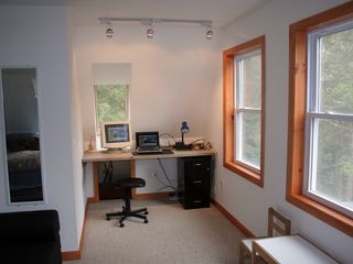 Eastbrook house photo - Upstairs office space, complete with pc for easy internet access. Lake view.