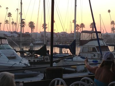 Enjoy sunset and a meal at Oceanside Harbor
