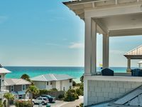 Stunning home with gulf views, 3 decks, community pool - short walk to Rosemary and beach: C'est La View
