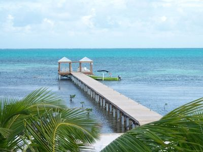 Enjoy Swimming from the 225' Private Dock with Palapas