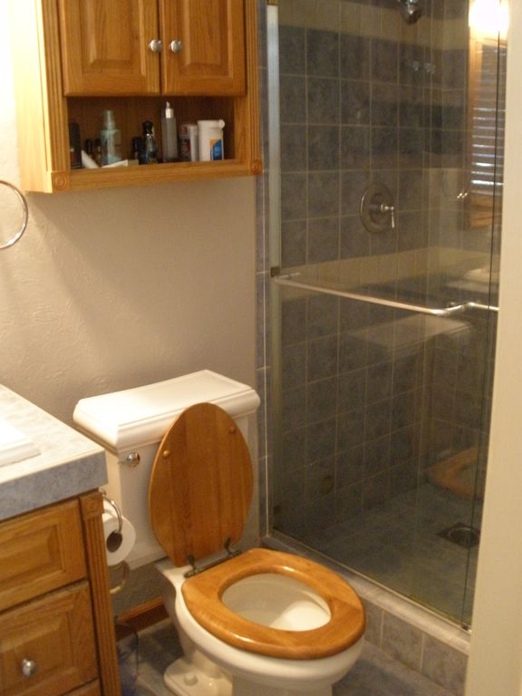 Walk in spacious tiled shower