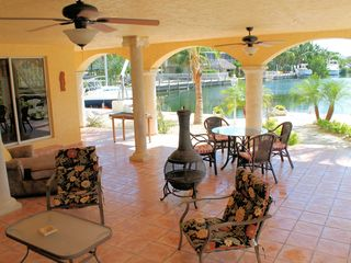 Tavernier villa photo - OUTDOORS; LIVING ROOM & DINING ROOM AREA W/BBQ