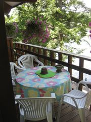 Breakfast or quick lunch on the Balcony - Bolton Landing house vacation rental photo