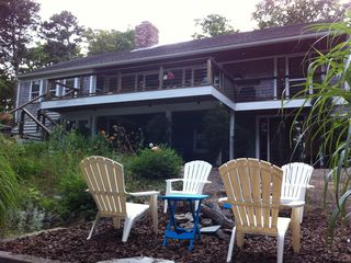 Orleans house photo - big back deck and additional seating at the firepit
