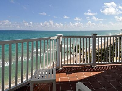 Large south end corner unit with Breathtaking beach, ocean and coastline views!