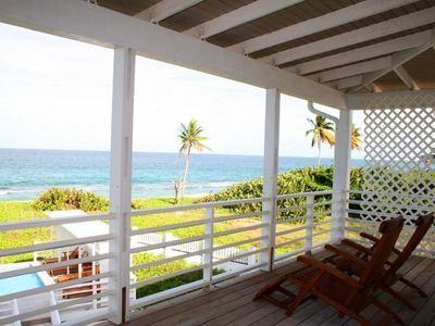 Saint Patrick District villa rental - relax on steamer chairs overlooking the pool