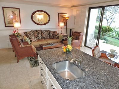 Poipu condo rental - enjoy the wide-open feelings in the living area